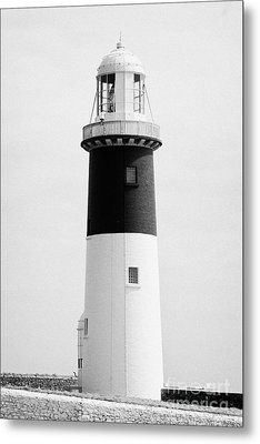The East Light Lighthouse Altacarry Altacorry Head Rathlin Island Northern Ireland Metal Print by Joe Fox