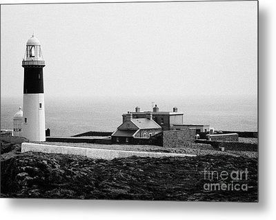 The East Light Lighthouse And Buildings Altacarry Altacorry Head Rathlin Island Northern Ireland Metal Print by Joe Fox