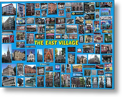 Metal Print featuring the digital art The East Village Collage by Steven Spak