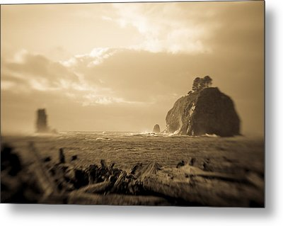 The Edge Of The World Metal Print by Takeshi Okada