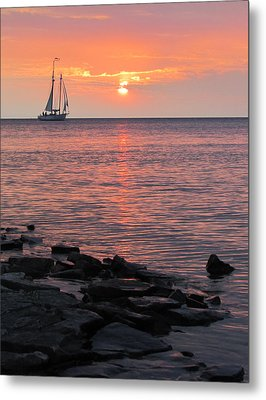 The Edith Becker Sunset Cruise Metal Print by David T Wilkinson