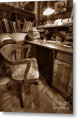 Metal Print featuring the photograph The Editor's Desk by ELDavis Photography