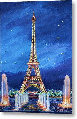 The Eiffel Tower And Fountains Metal Print