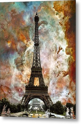 The Eiffel Tower - Paris France Art By Sharon Cummings Metal Print by Sharon Cummings