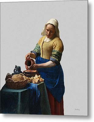 The Elegance Of The Kitchen Maid Metal Print by David Bridburg