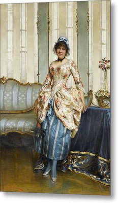 The Elegant Maid Metal Print by Frederick Soulacroix