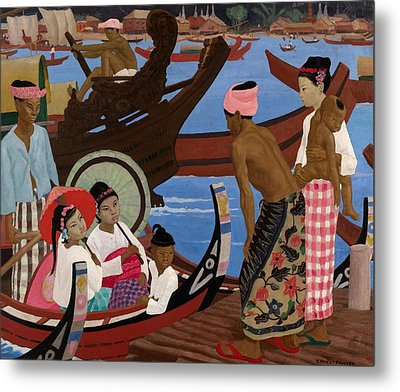 The Embarkation 1920s Metal Print by Ernest Procter