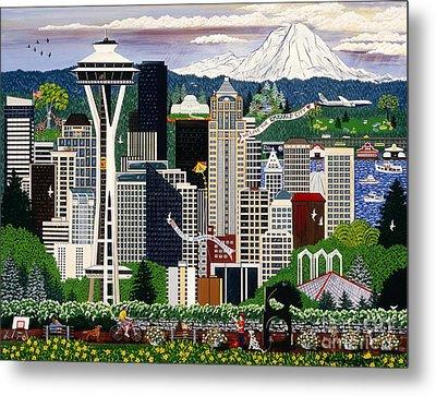 The Emerald City Seattle Metal Print