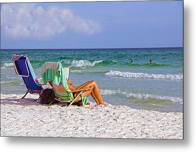 Metal Print featuring the photograph The Emerald Coast by Charles Beeler