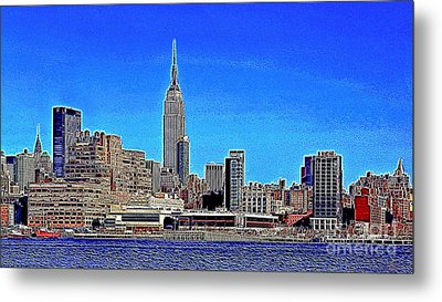 The Empire State Building And The New York Skyline 20130430 Metal Print by Wingsdomain Art and Photography
