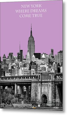 The Empire State Building Pantone African Violet Light Metal Print