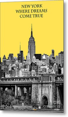The Empire State Building Pantone Yellow Metal Print