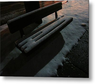 The Empty Bench Metal Print by Guy Ricketts
