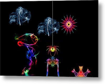 The Enchanted Smoke Spider Metal Print by Steve Purnell