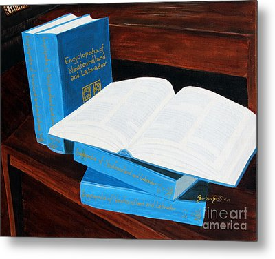 The Encyclopedia Of Newfoundland And Labrador - Joeys Books Metal Print by Barbara Griffin