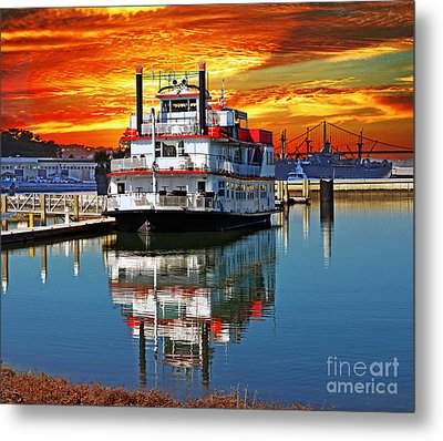 The End Of A Beautiful Day In The San Francisco Bay Metal Print