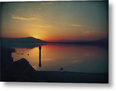 The End Of Another Day Without You Metal Print by Laurie Search