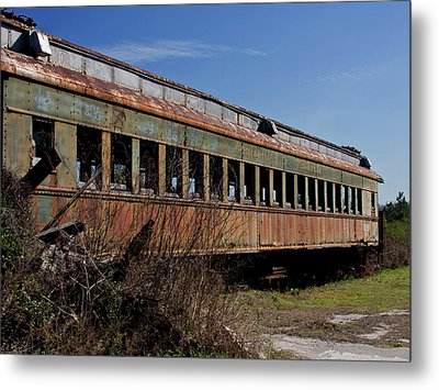 The End Of The Line Metal Print by Sandra Anderson