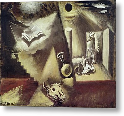 The End Of The World, C.1929 Oil On Canvas Metal Print by Amedee de La Patelliere