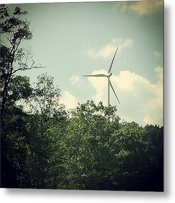Metal Print featuring the photograph The Energy Of Wind by Thomasina Durkay