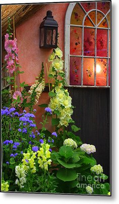 The English Cottage Window Metal Print by Dora Sofia Caputo Photographic Art and Design