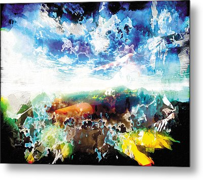 Metal Print featuring the painting The Entanglement 2 by The Art of Marsha Charlebois