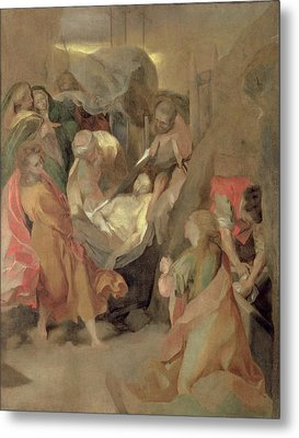The Entombment Of Christ Metal Print