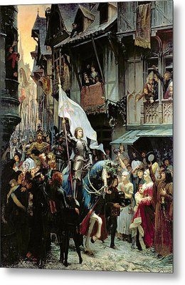 The Entrance Of Joan Of Arc Into Orleans Metal Print by Jean-Jacques Scherrer