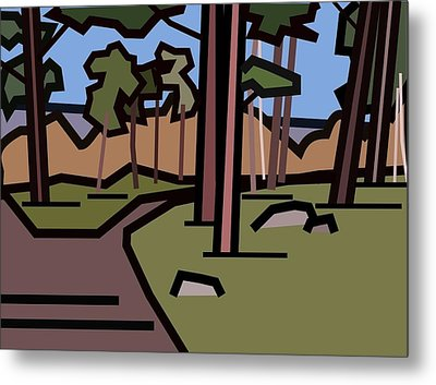The Entrance To The Wood. Metal Print by Kenneth North