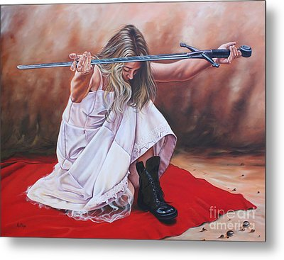 The Entrusted Sword Metal Print