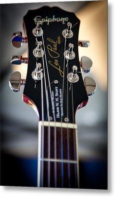 The Epiphone Les Paul Guitar Metal Print by David Patterson