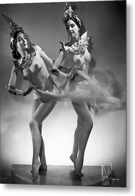 The Epler Sisters Metal Print by Underwood Archives