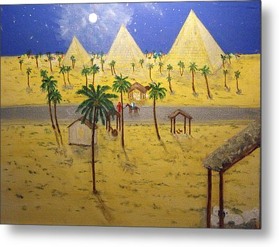 The Escape To Egypt Metal Print by Larry Farris