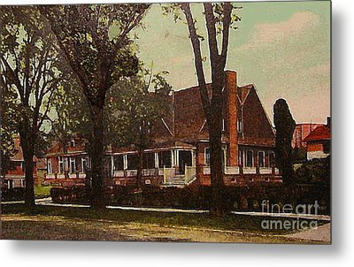 The Evanston Club In Evanston Il In 1910 Metal Print by Dwight Goss