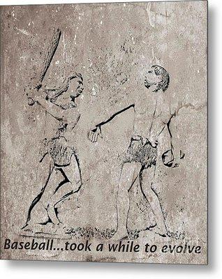The Evolution Of Baseball Metal Print