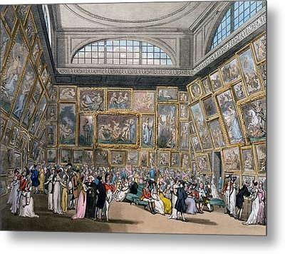The Exhibition Room At Somerset House Metal Print