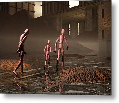 Metal Print featuring the digital art The Exiles Sojourn by John Alexander