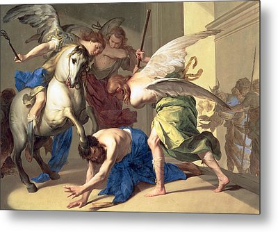 The Expulsion Of Heliodorus From The Temple Metal Print