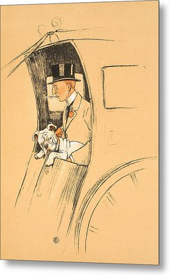 The Extra Passenger Metal Print by Cecil Charles Windsor Aldin