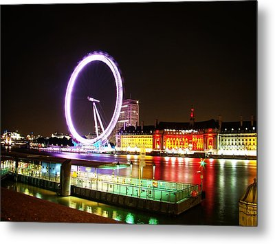 The Eye In Colors Metal Print by Zinvolle Art