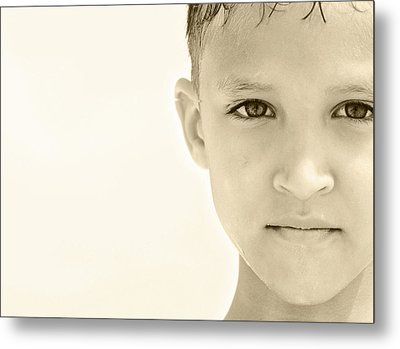 The Eye Of A Child Metal Print