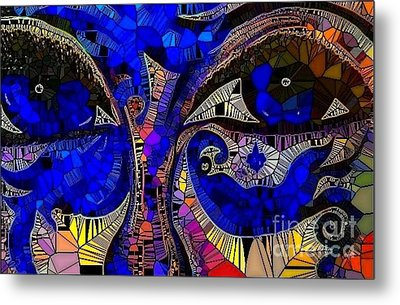 The Eyes Have It. 1 Mosaic Metal Print by Saundra Myles
