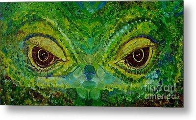 The Eyes Have It Metal Print by Julie Brugh Riffey