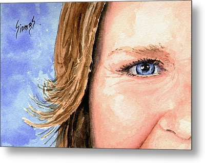 The Eyes Have It - Sherry Metal Print by Sam Sidders