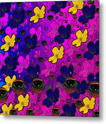 The Eyes Of Mother Nature Serve And Protect Metal Print by Pepita Selles