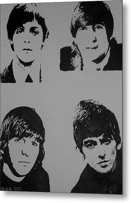 Metal Print featuring the painting The Fab Four by Cherise Foster