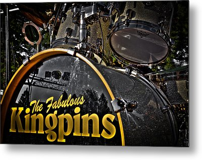The Fabulous Kingpins Drums Metal Print