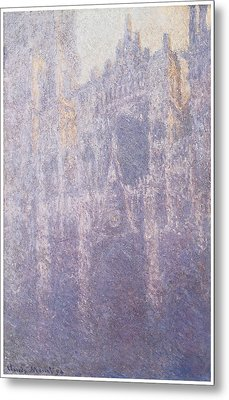 The Facade Morning Mist Metal Print by Claude Monet