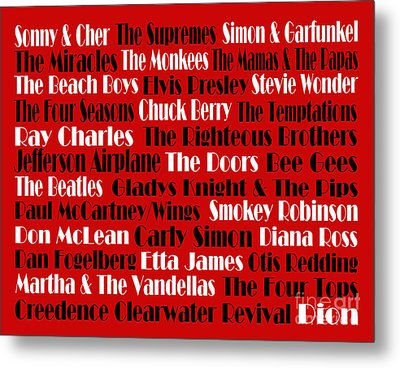 The Faces Of Rock And Roll 2  Metal Print by Andee Design