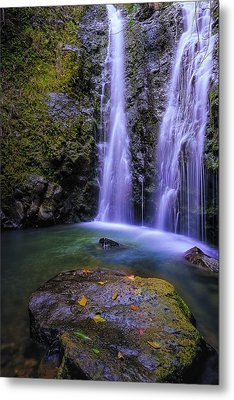 The Falls At Makamakaole Metal Print by Hawaii  Fine Art Photography